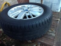 "Ford Galaxy 2006-2010 16"" ghia alloy spare wheels with legal tyres"