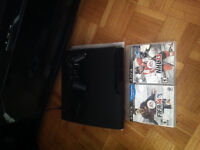150 GB PS3 WITH GAMES AND ONE CONTROLLER ; offer is NEGOTIABLE!