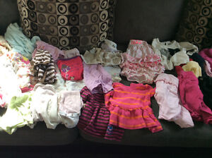 6 mos baby girl clothes, great condition s/f