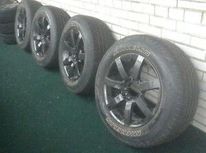 4 FAST SLALOM WHEELS (PAINTED/GUNMETAL)WITH MICHELIN TIRES.