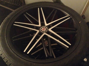 New tires and rim for low price 1000.00