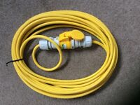 110 v industrial cable extension lead