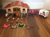 Schleich stable and truck £90 for all