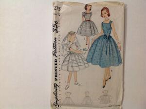 RareVTG original 1953 Simplicity sewing pattern, #4275 - size 12
