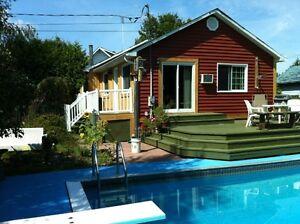 bungalow à ste marthe sur le lac