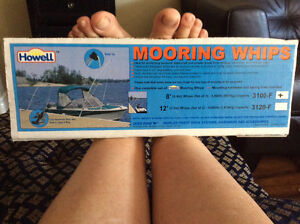 Mooring whips for seadoo or boat