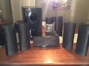 Onkyo 5.1 receiver and 7.1 speaker package