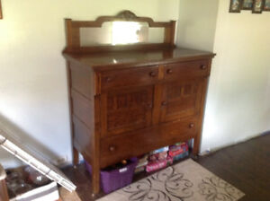 Beautiful antique solid buffet