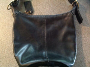 Genuine Coach Black Leather Hobo Purse