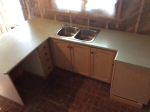 Kitchen Cabinet Set w Countertop & Sink - Priced to Move!!