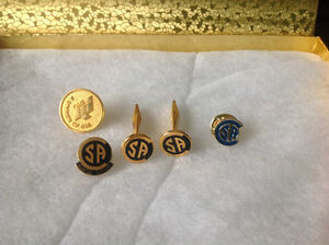 Collectable CSA Cuff Links and Tie Tacs