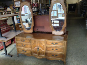 Super belle commode ancienne, 2 miroirs + 6 tiroirs  #HHQRESTORE
