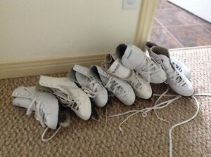 4 Pairs of Figure Skates