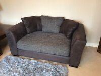 Large grey/black/v. dark brown 2 seater sofa