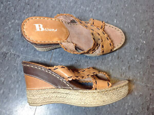NEW Browns Brand leather wedge sandals Cambridge Kitchener Area image 3