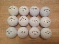 12 CALLAWAY WARBIRD GOLF BALLS IN ABSOLUTELY MINT CONDITION