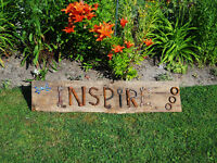 Rustic Garden Art Sign