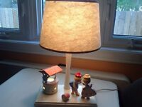 Antique Jack and Jill bedside lamp / table lamp with nightlight