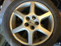 Altima 17' Alloy mag with all season tires (P215/55R17)