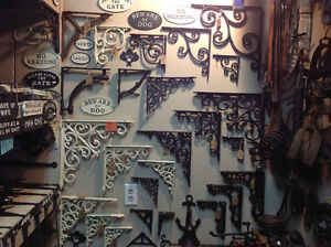 Wool carpets, vintage furniture, cast iron hardware, lamps......