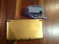 3DS XL Limited Edition Black/Gold System - Link Between Worlds