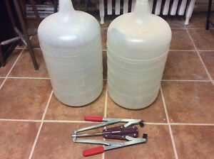 For sale wine bottler corker and two bottles