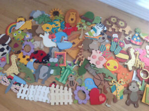 Assorted Painted Wooden Cutouts