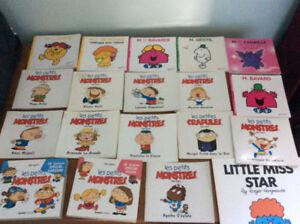 lot de livres monsieur madame et les petits monstres