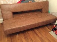 DWELL FAUX LEATHER SOFA BED. Free delivery!!!