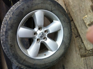 . 2012 dodge ram 1500 tire and rim only one !