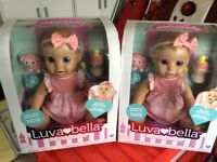 Luvabella Dolls x2 brand new in unopened boxes with receipts.