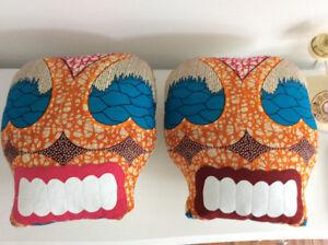 A Set Of 2 Skull/Halloween Pillows