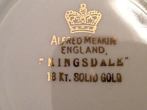 Set de vaisselles Alfred Meakin England  18 kt Solid Gold