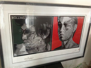 "Rolling Stones Framed ""Tattoo You"" Numbered Lithograph Poster Oakville / Halton Region Toronto (GTA) image 1"