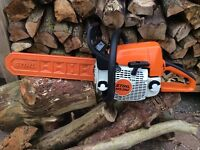 Stihl ms250 chainsaw logging. Woodburner 16""