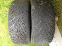 2 Federal Tires size 195/55ZR15