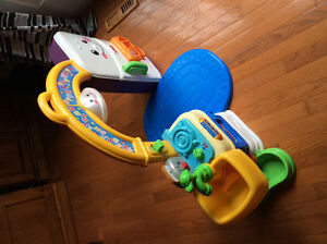Bumbo Seat with Tray and Items Listed Below