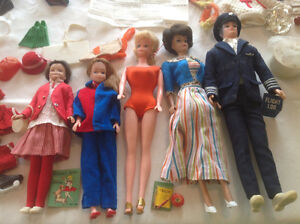 ASSORTED VINTAGE BARBIE & CLONE DOLLS/CLOTHING/ACCESSORIES