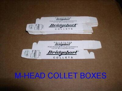 Bridgeport M-head Collet Boxes 2morse 7 Browne Sharp B3