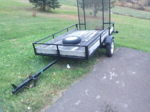 SOLD   8' x 4 1/2' utility trailer