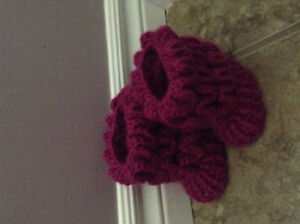 Brandnew hand crocheted baby booties