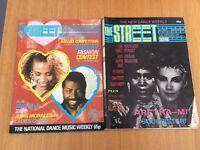 RARE 80'SOUL MAGAZINE THE STREET SCENE WHITNEY HOUSTON GRACE JONES 7 ISSUES. HIP HOP REGGAE