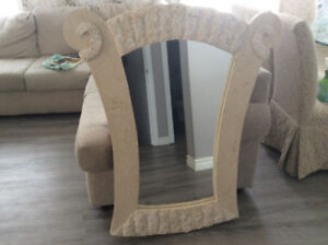 SOFA TABLE AND MIRROR