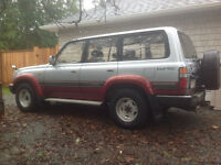 1992 Toyota Land Cruiser Red SUV, Crossover