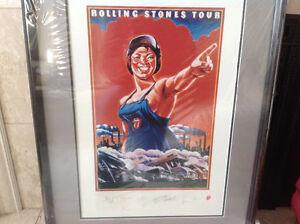 Rolling Stones Framed Tour Numbered Lithograph Oakville / Halton Region Toronto (GTA) image 5