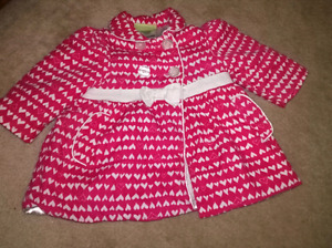 TODDLER HEART COAT SZ 18-24 MTH!!