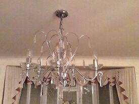 5 arm lead crystal chandelier chrome - £15.00