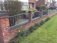3 decorative fence panels