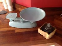 Vintage scales and weights