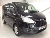 2015 FORD TRANSIT CUSTOM CREW CAB TREND 2.2TDCi 125PS 290 BLACK LOW MILES VAN